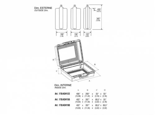 Valigetta in plastica 170/43H122