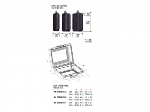 Valigetta in plastica 170/48H132